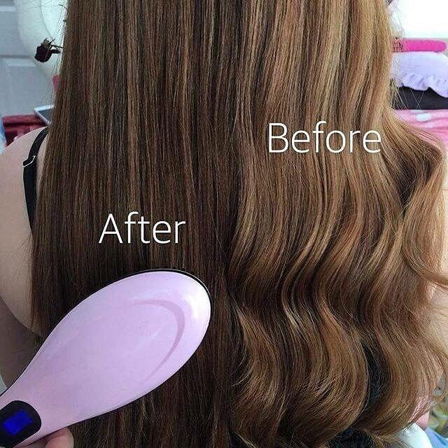 รูปภาพที่1 ของสินค้า : Professional Electric Comb แปรงหวีไฟฟ้า (Pink Lady)