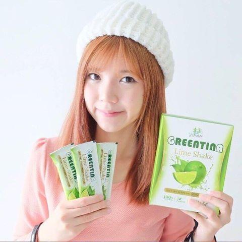 รูปภาพที่1 ของสินค้า : Greentina Lime Shake กรีนติน่า ไลม์ เชค สดชื่น พุงยุบ ดื่มแล้วผอม