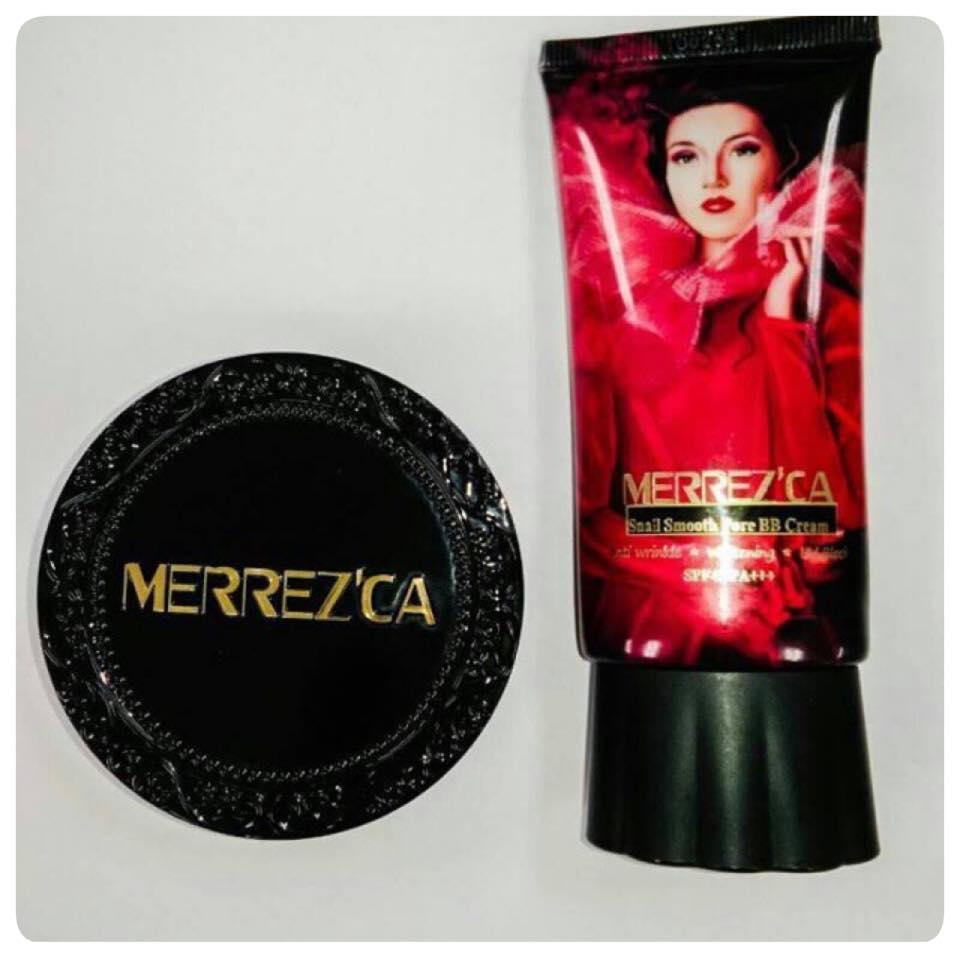 รูปภาพที่2 ของสินค้า : Merrez'ca CC Matte Powder Cake SPF45/PA++ 13 g. เบอร์ 23