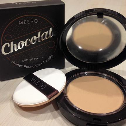 ( No.23 )Meeso Chocolate Primer Foundation Powder SPF50 PA+++ (Made in Korea)